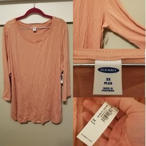 NWT Old Navy Plus Pink Top!